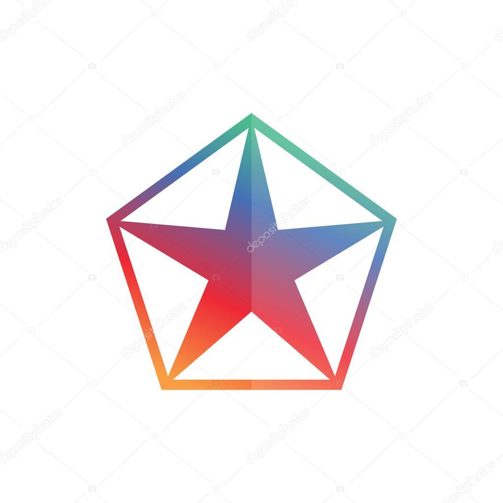 Plantilla de diseño de logotipo estrella geométrica — Vector de ...