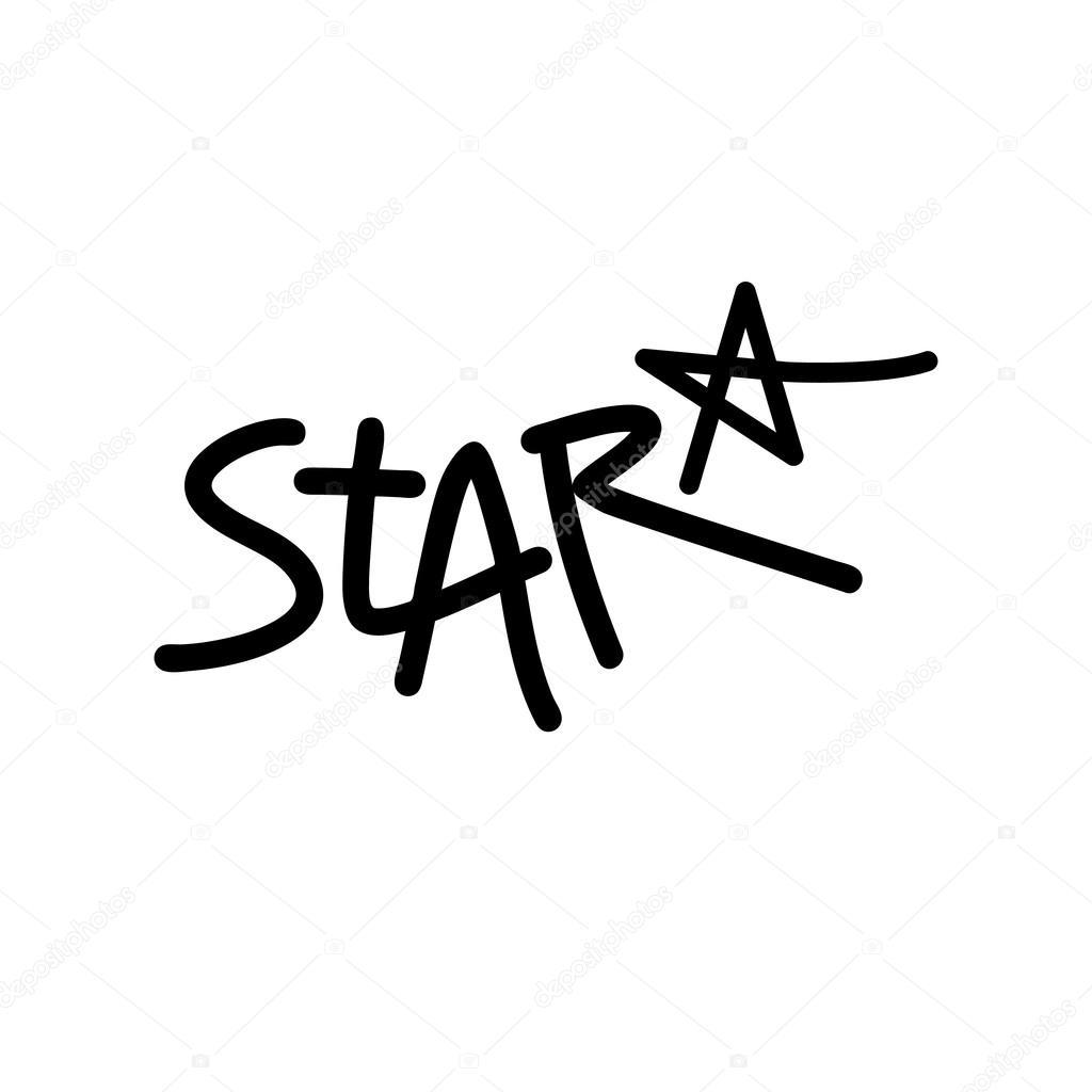 Plantilla de diseño de logotipo estrella manuscrita — Vector de ...