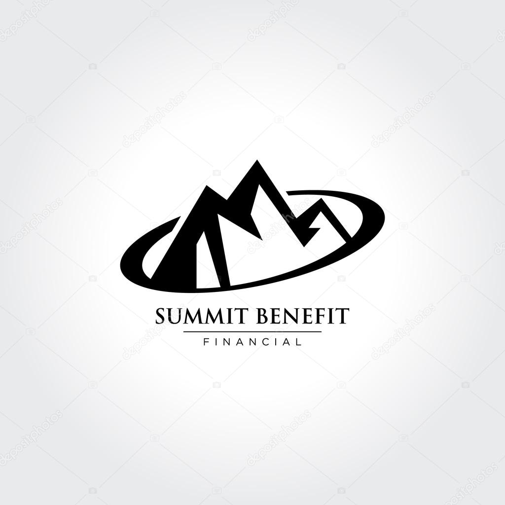 Mountain. Summit. Peak. Vector illustration