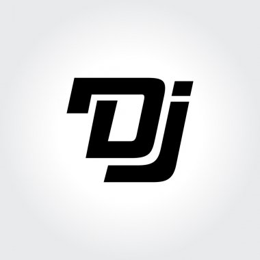 DJ logo design. Creative typography treatment in black and white