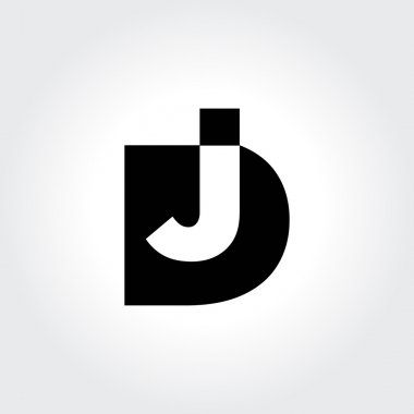 DJ logo design. Creative typography treatment in black and white