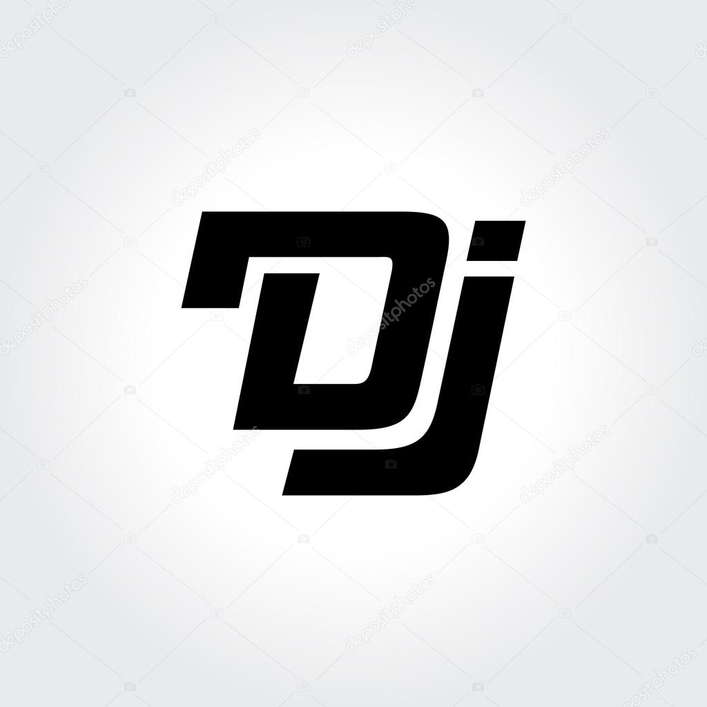 Fabulous DJ logo design. Creative typography treatment in black and white  VE01