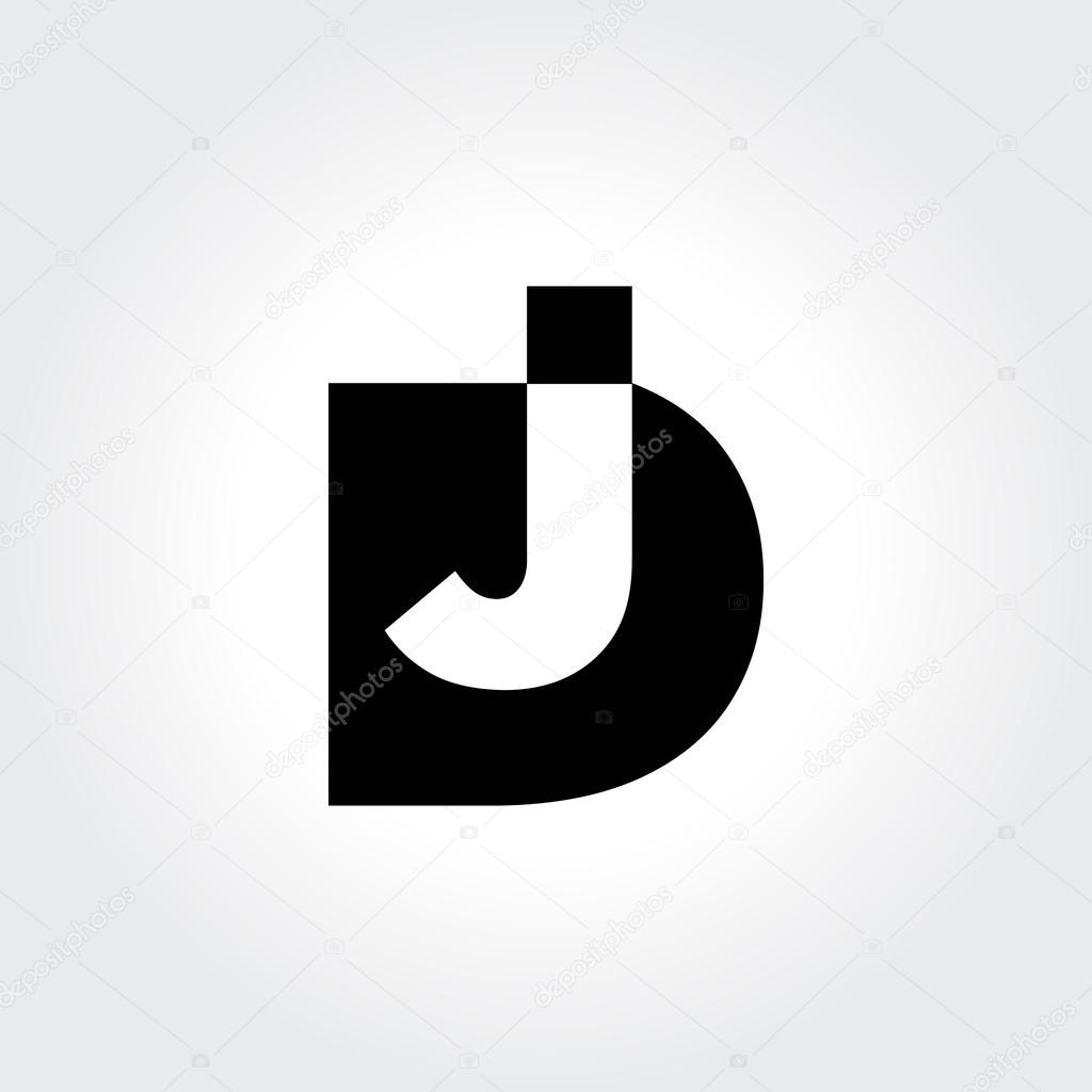 Dj logo design creative typography treatment in black and white a great logo example for your dj professions vector by srirejeki buycottarizona Gallery