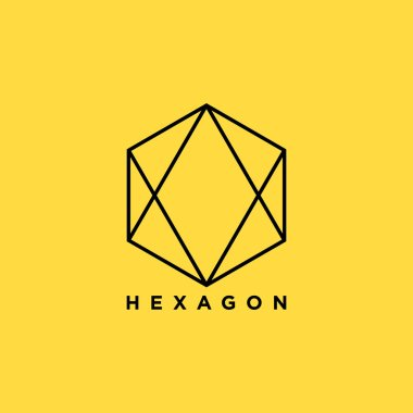 Hexagon symbol. vector illustration