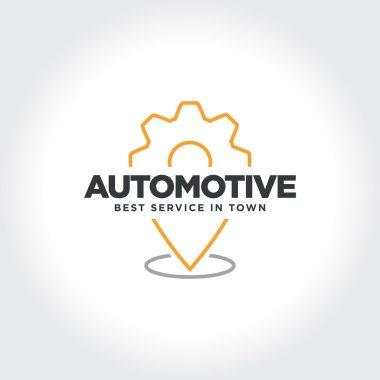 Automotive Service Location Technology. Vector illustration.