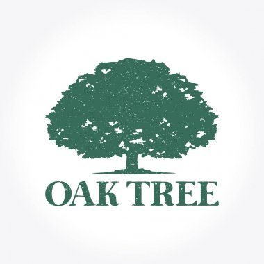 A great oak tree illustration that suitable for your business stock vector
