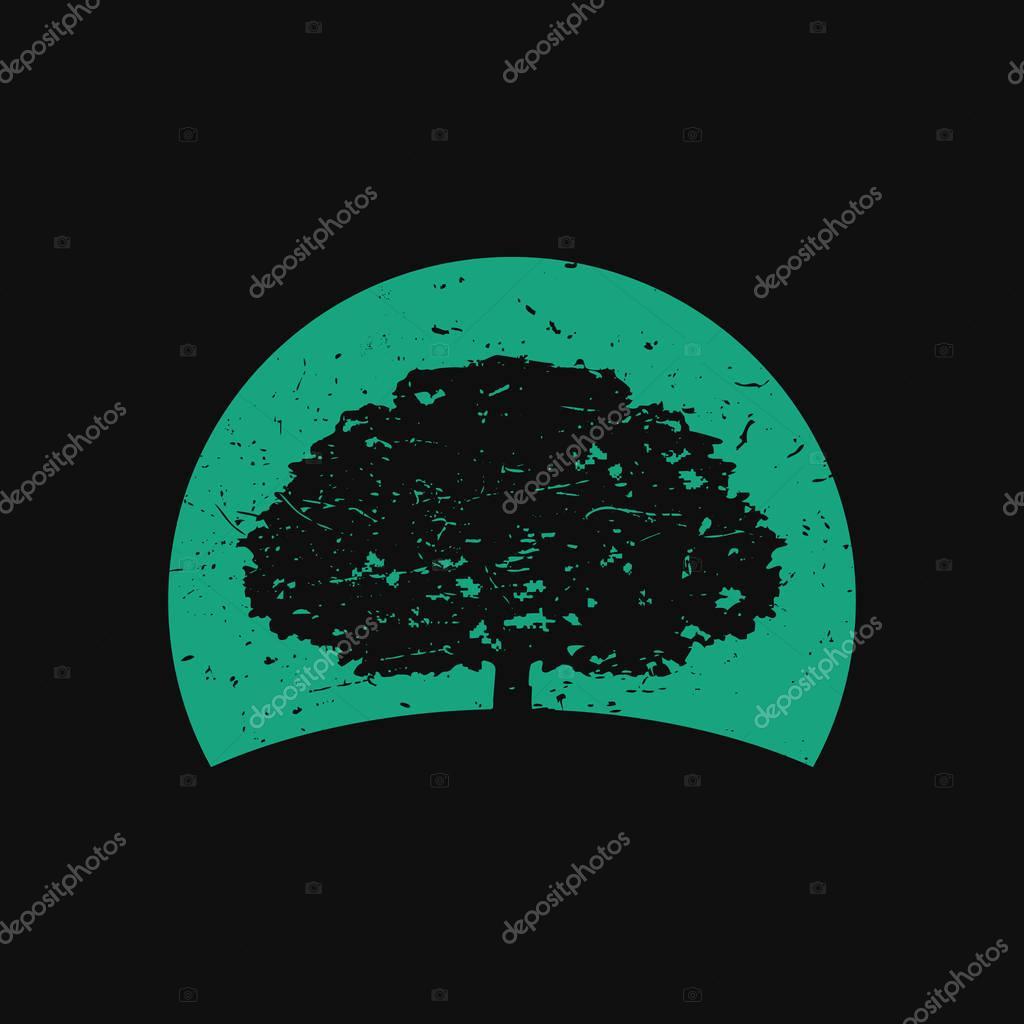 Oak Tree Logo in Dark Background