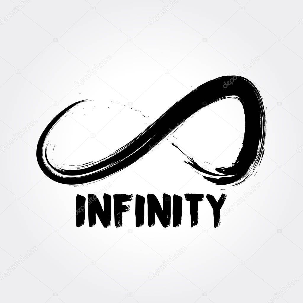 Infinity Symbol Hand Drawn Logo Concept Stock Vector Srirejeki