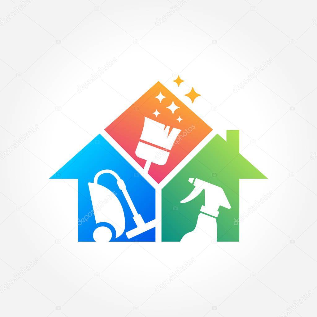 Dise o de logotipo de empresa de servicios limpieza eco friendly concepto interior casa y - Servicio de limpieza para casas ...