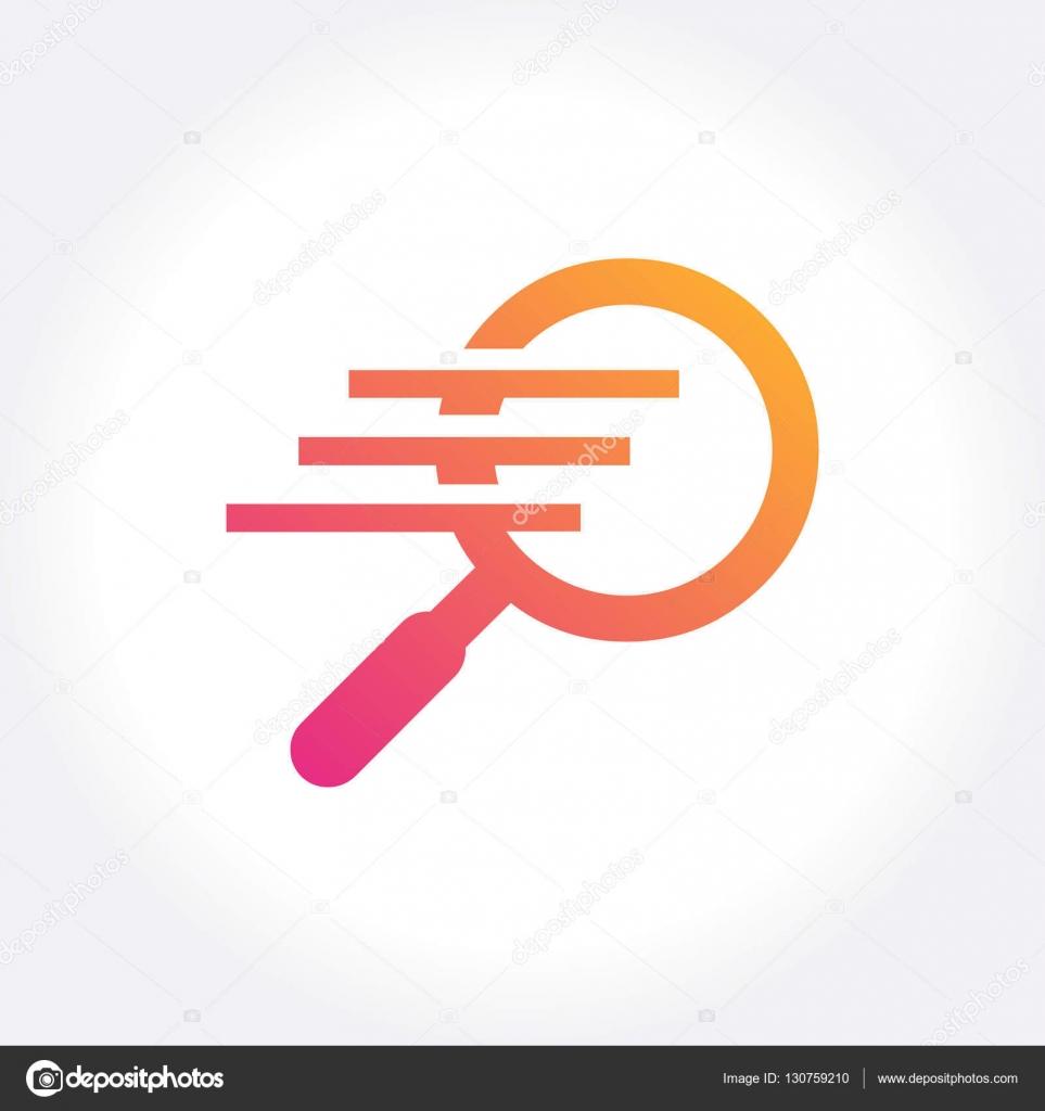 Diseño de plantilla de logotipo buscador rápido. Ilustración de ...