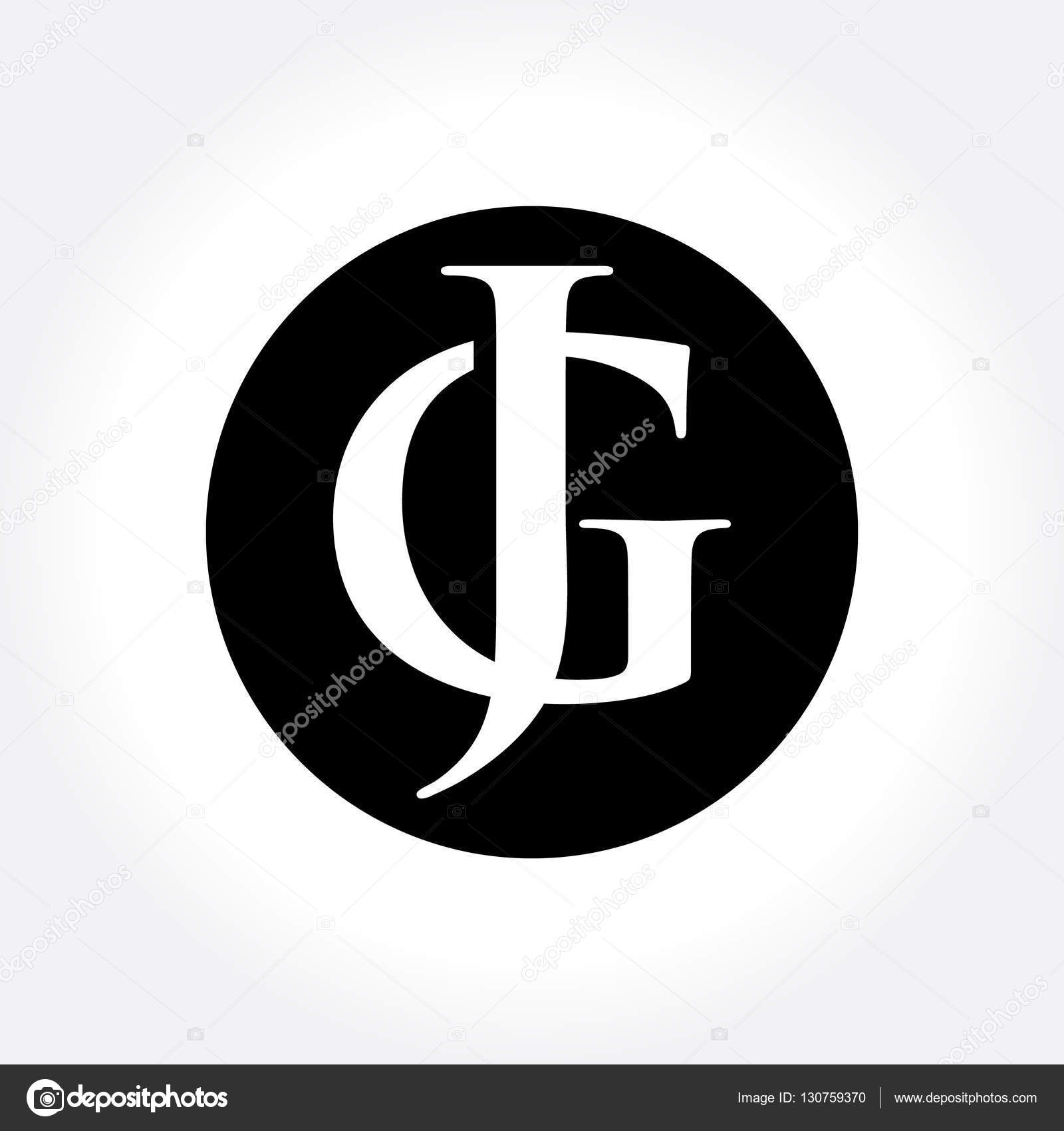Jg initial letters inside circle monogram logo stock vector a simple symbol for your business that quite unique so it can stand from the crowd easy to implement in future needs vector by srirejeki biocorpaavc