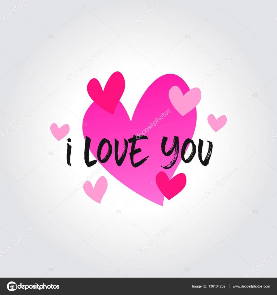 Me encanta el mensaje e insignias de los iconos del corazón ...
