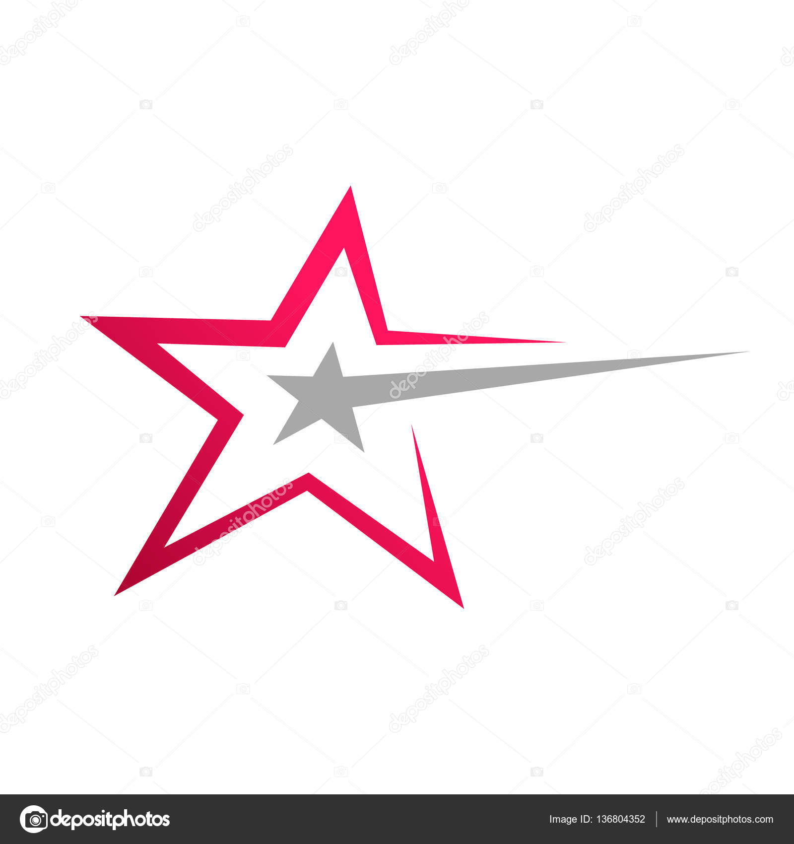 Stylish Star Symbol Stock Vector Srirejeki 136804352