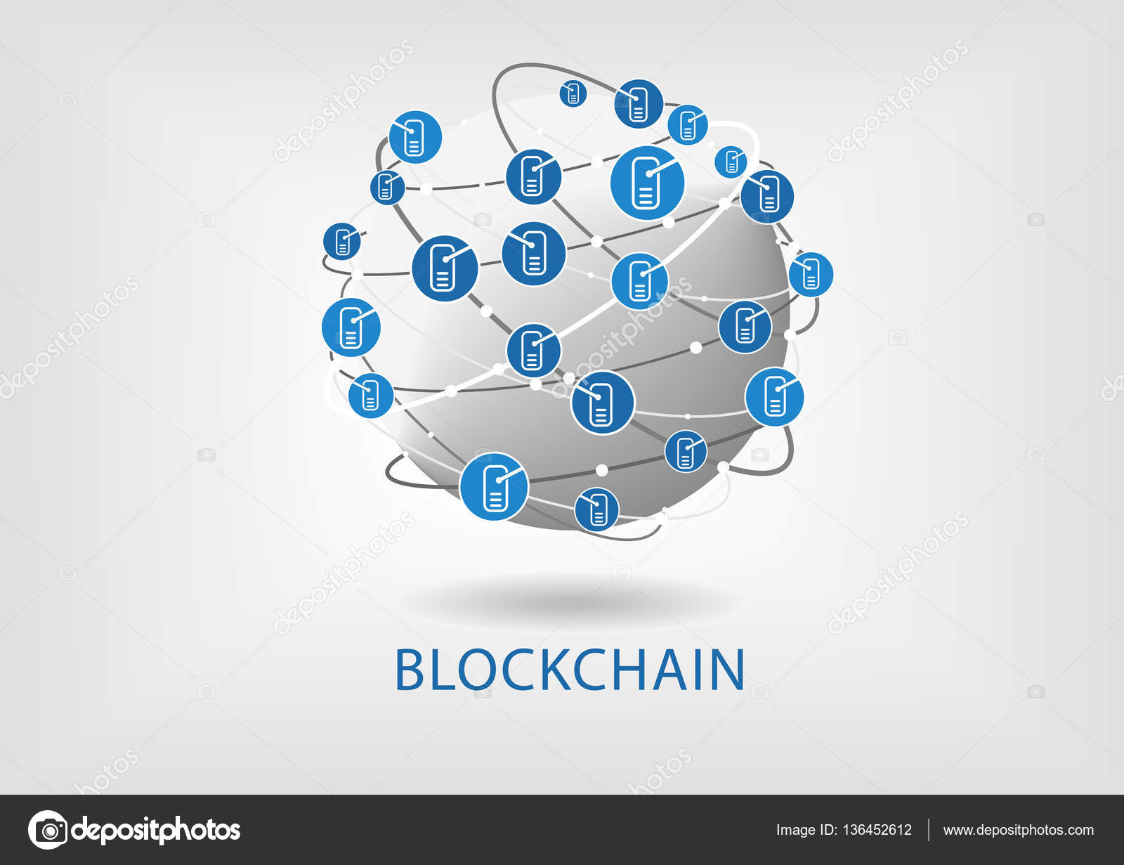 Blockchain Stock Vectors Royalty Free Illustrations Circuit Board Vector Background Graphics All Web Illustration With Connected Globe On Light Grey