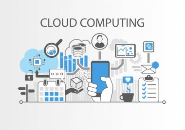 Cloud computing vector infographic