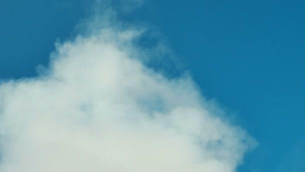 Bílý kouř nebo mrak na čisté modré oblohy. Ideálně pro pozadí. Abstraktní pojem.
