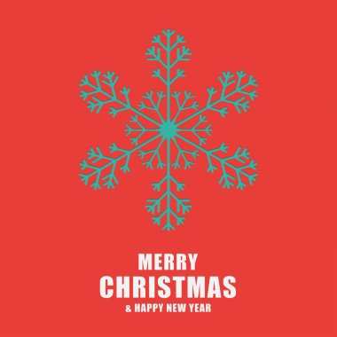Christmas and New Year greeting card. Template snowflakes laser