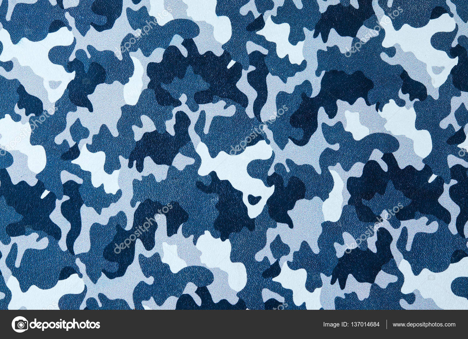 Blue Camouflage Pattern Leather Texture Closeup. Use For Backgro U2014 Stock  Photo