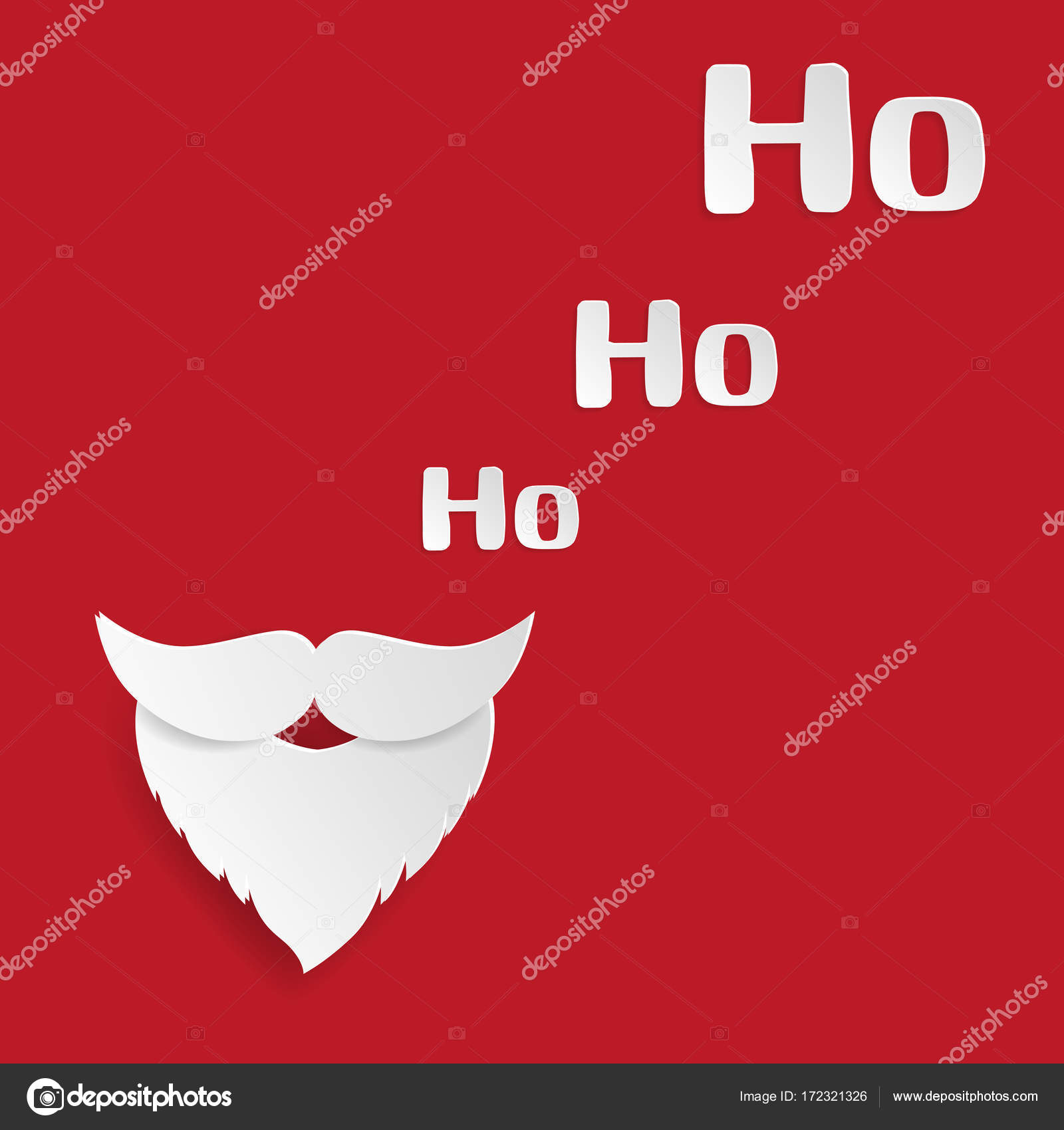 Merry Christmas And Happy New Year Greeting Card Santa Claus Mu