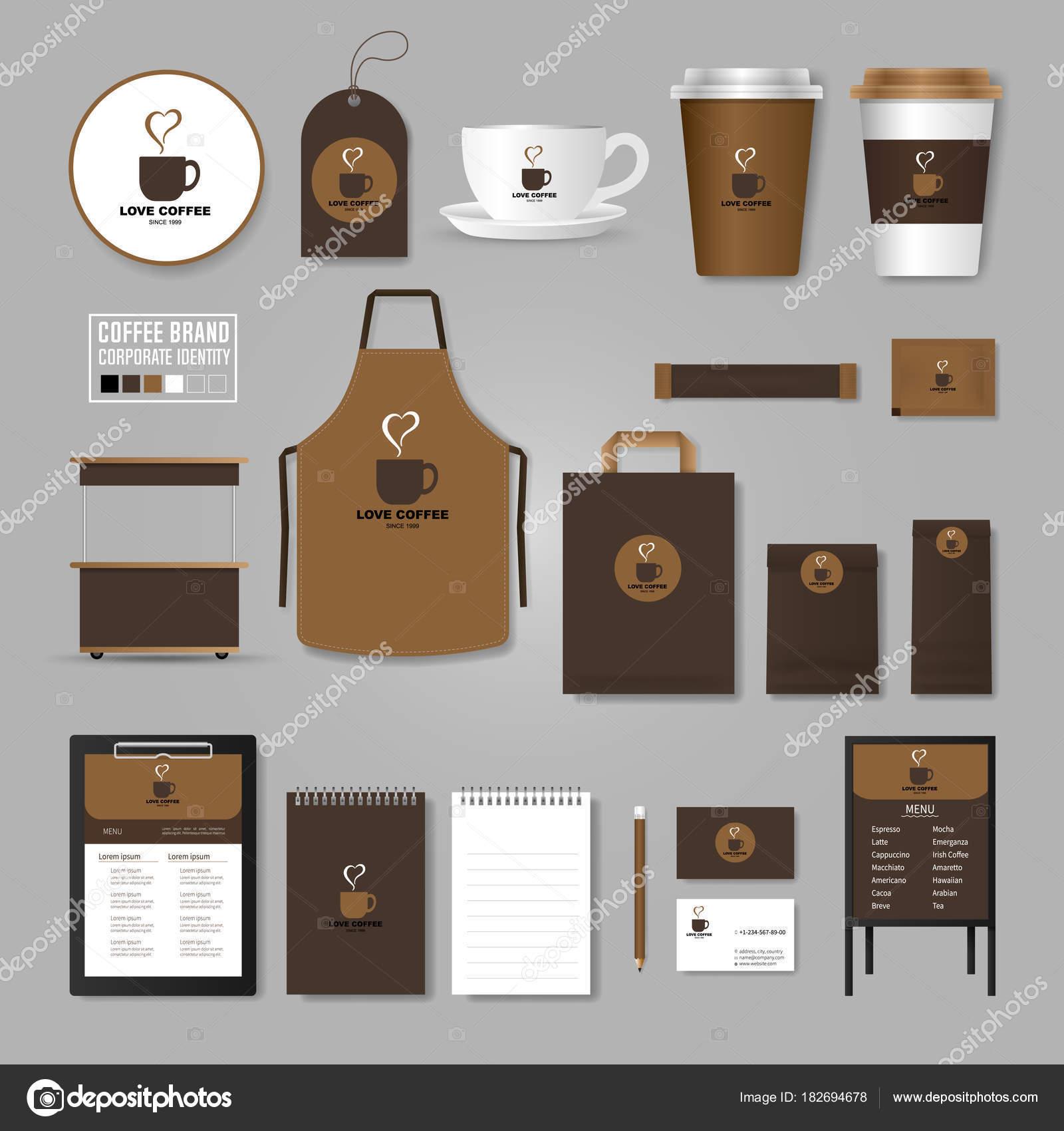 Åablona firemn identity Koncept loga pro coffee shop kavárna