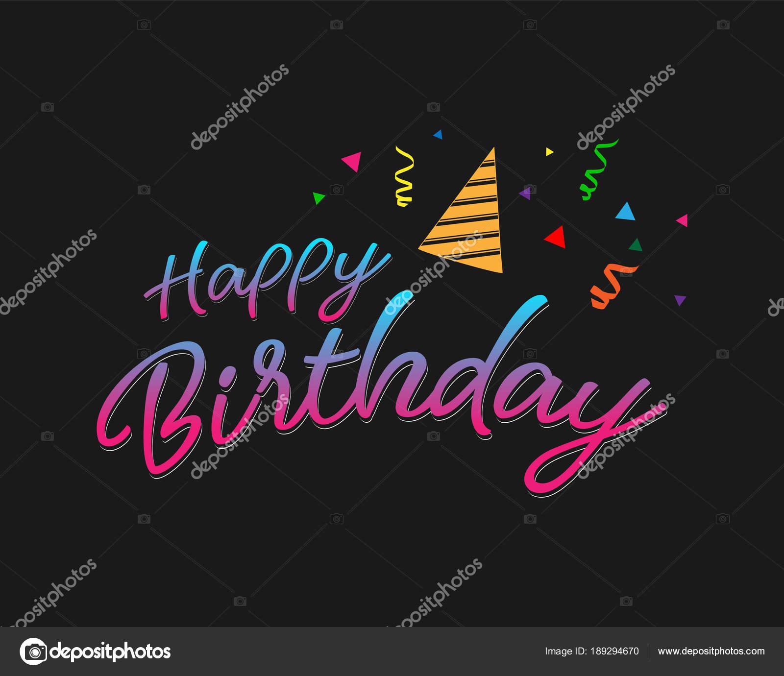 Plantilla Feliz Cumpleaños Word Feliz Cumpleaños Colores
