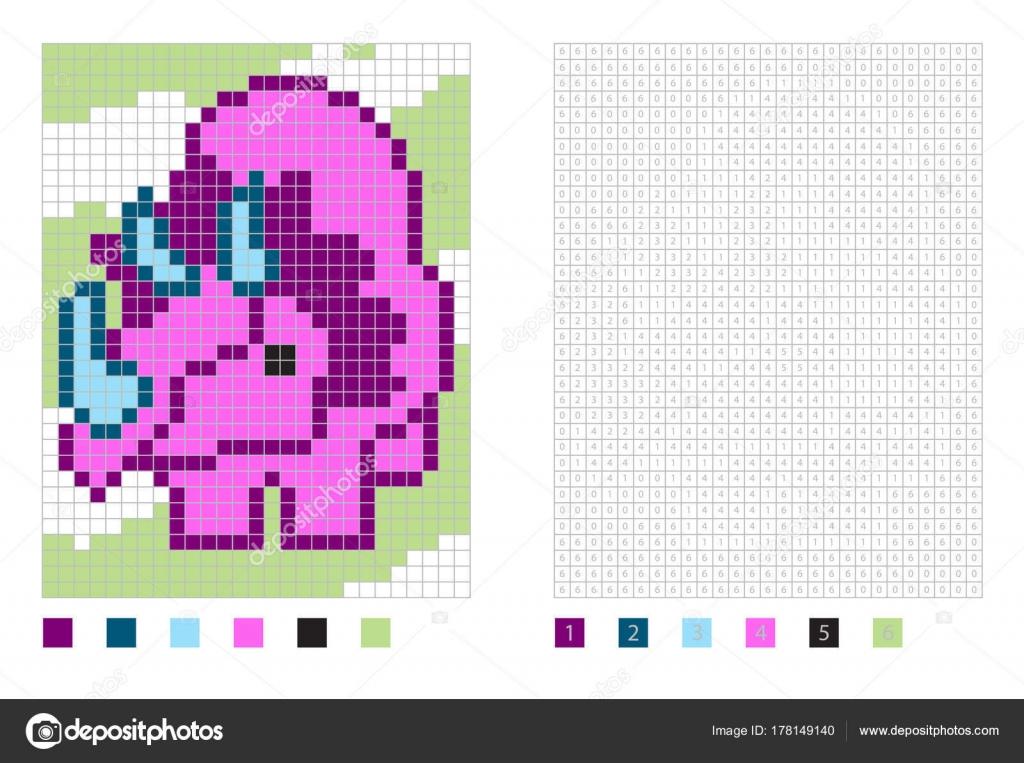 Dibujos de dinosaurio de píxeles en la página para colorear con ...