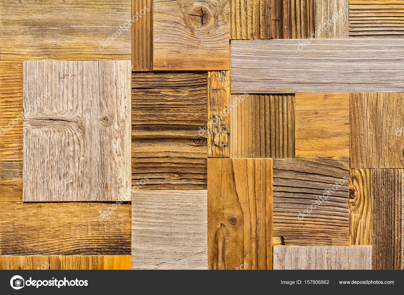 Dekorative Holz Hintergrund, Legen Sie Aus Verschiedenen ökologischen  Rechteck Fliesen Holzoptik, Alt Braun Plank