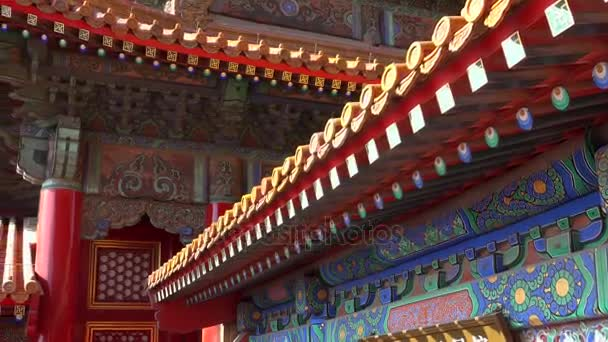 Emperor palace red roof close details  Forbidden city Beijing capital of  China  Emperor palace  Old Asian culture