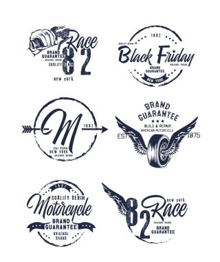 vintage motorcycling quality labels