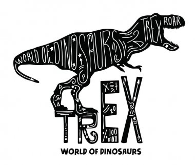 hand draw Trex Dinosaur