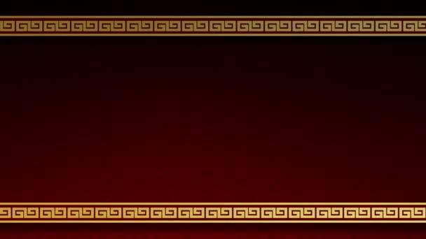 Šťastný čínský Nový rok abstraktního vzorového designu pro tradiční festival Pozdrav Karta pozadí.Pohyb Grafická jednoduchá tapeta.Design rámeček ohraničení pohlednice minimální dekorace.Video Záběry