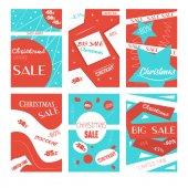 christmas sale banners set