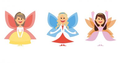 set of cartoon fairies