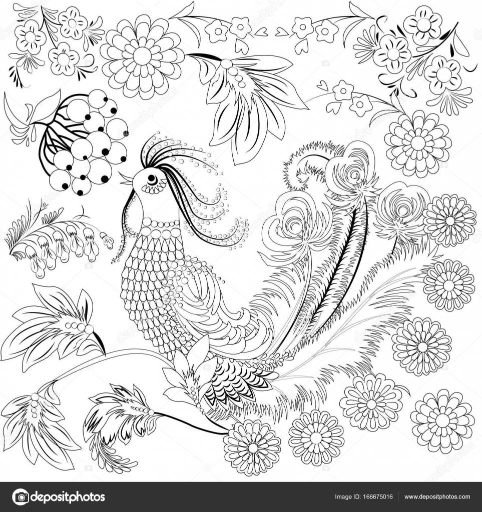 Aves silvestres tropicales y flores. Libro para colorear para los ...
