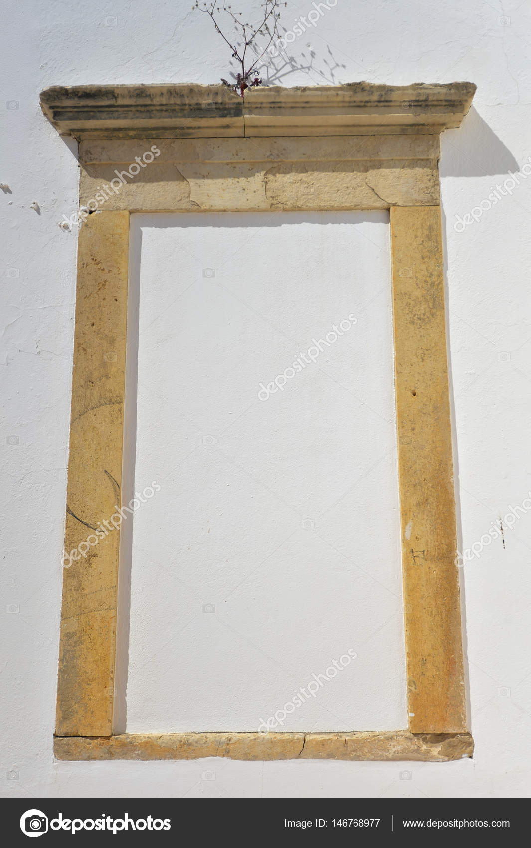Sealed medieval stone door frame white wall background stock sealed medieval stone door frame white wall background stock photo jeuxipadfo Gallery