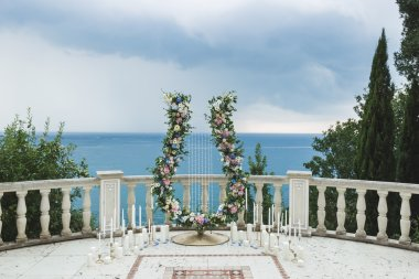 Wedding ceremony with a sea view