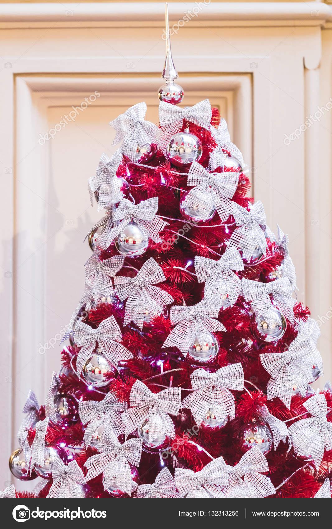 Ungewöhnliche Ideen Für Die Dekoration Weihnachtsbaum U2014 Stockfoto