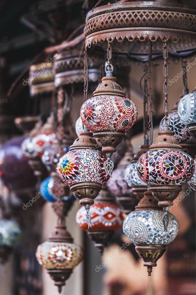 Beautiful traditional handmade turkish lamps