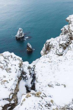 Winter sea landscape in Fiolent
