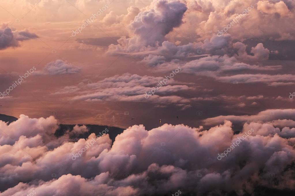 Amazing colorful sunrise
