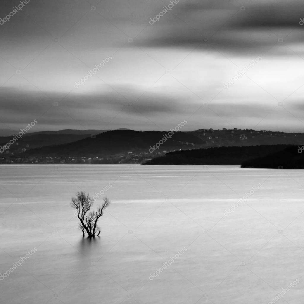 Conceptual landscape with long exposure
