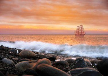 Scarlet Sails. Alone ship