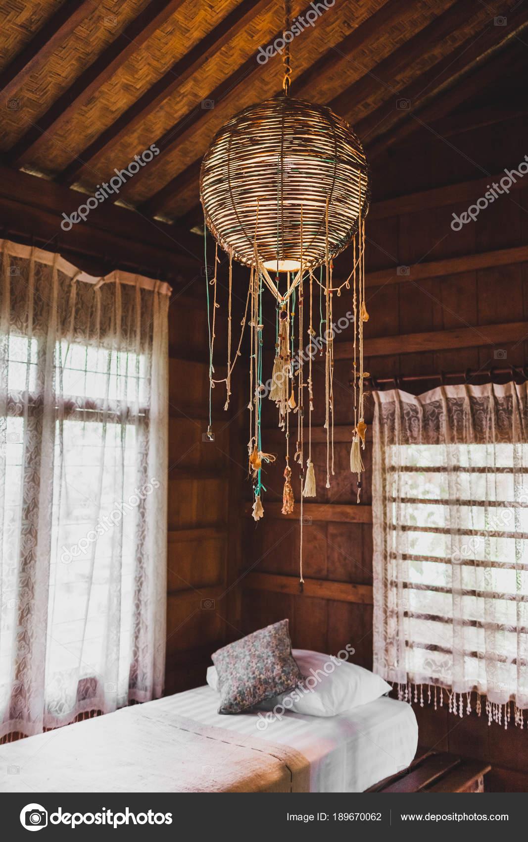 Lampe Osier Decoratifs Faits Main Dans Style Ethnique Maison Bois
