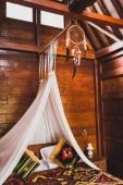 Fényképek Hippie stílus fa szoba hagyományos hatálya színes takaró dísz. Függő baldachinos és Álomfogó