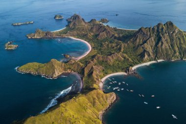Aerial view of Pulau Padar island in Komodo national park, Indonesia