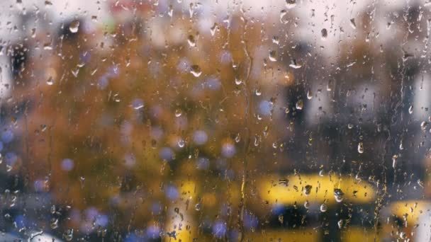 dešťové kapky na okno tak se stroji