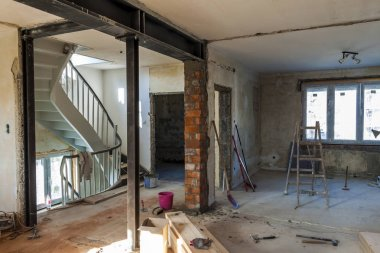 Interior of a house under construction. Renovation of an apartme