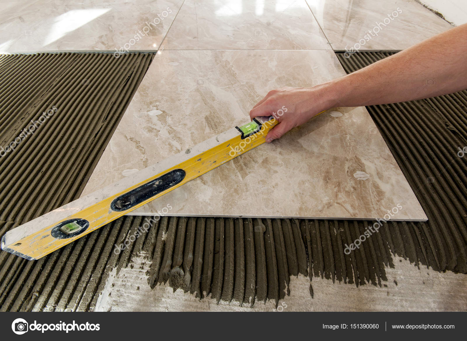 Ceramic tiles and tools for tiler floor tiles installation hom ceramic tiles and tools for tiler floor tiles installation hom stock photo dailygadgetfo Image collections