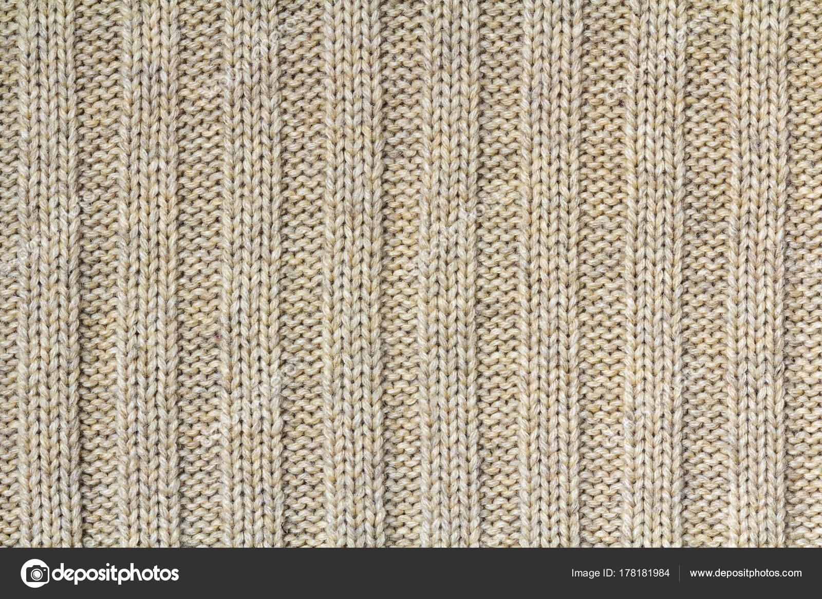 Textura de fondo de patrón de color beige de punto tejido de cotto ...