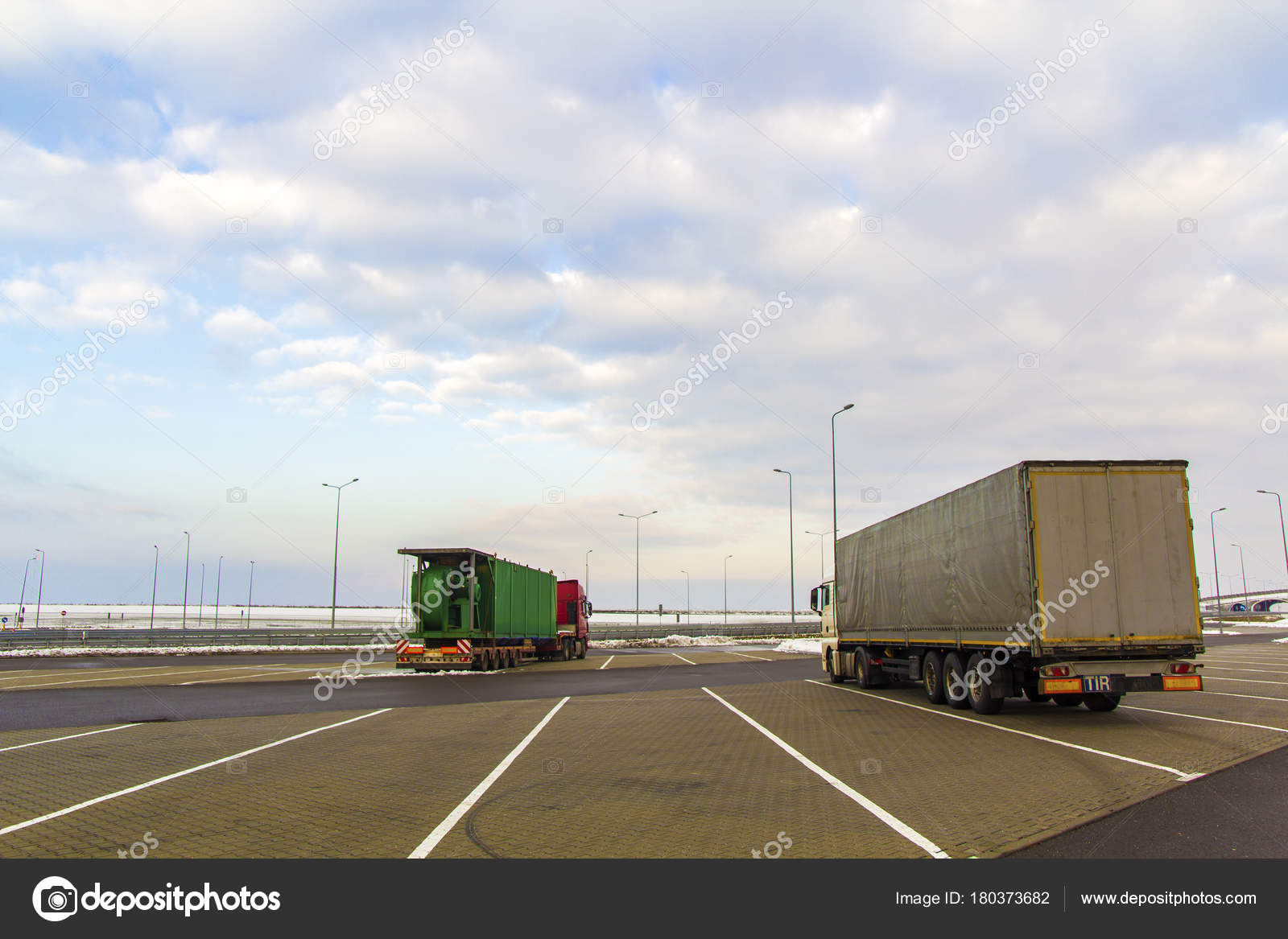 Big cargo truck parked on a parking lot — Stock Photo © bilanol i ua